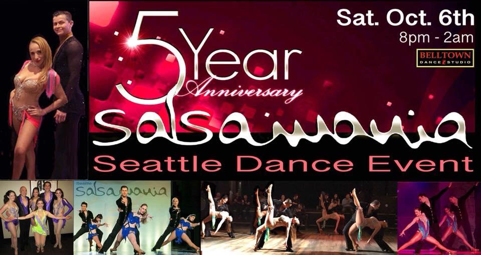 Salsamania Seattle 5th Year Anniversary Social 10/6/18